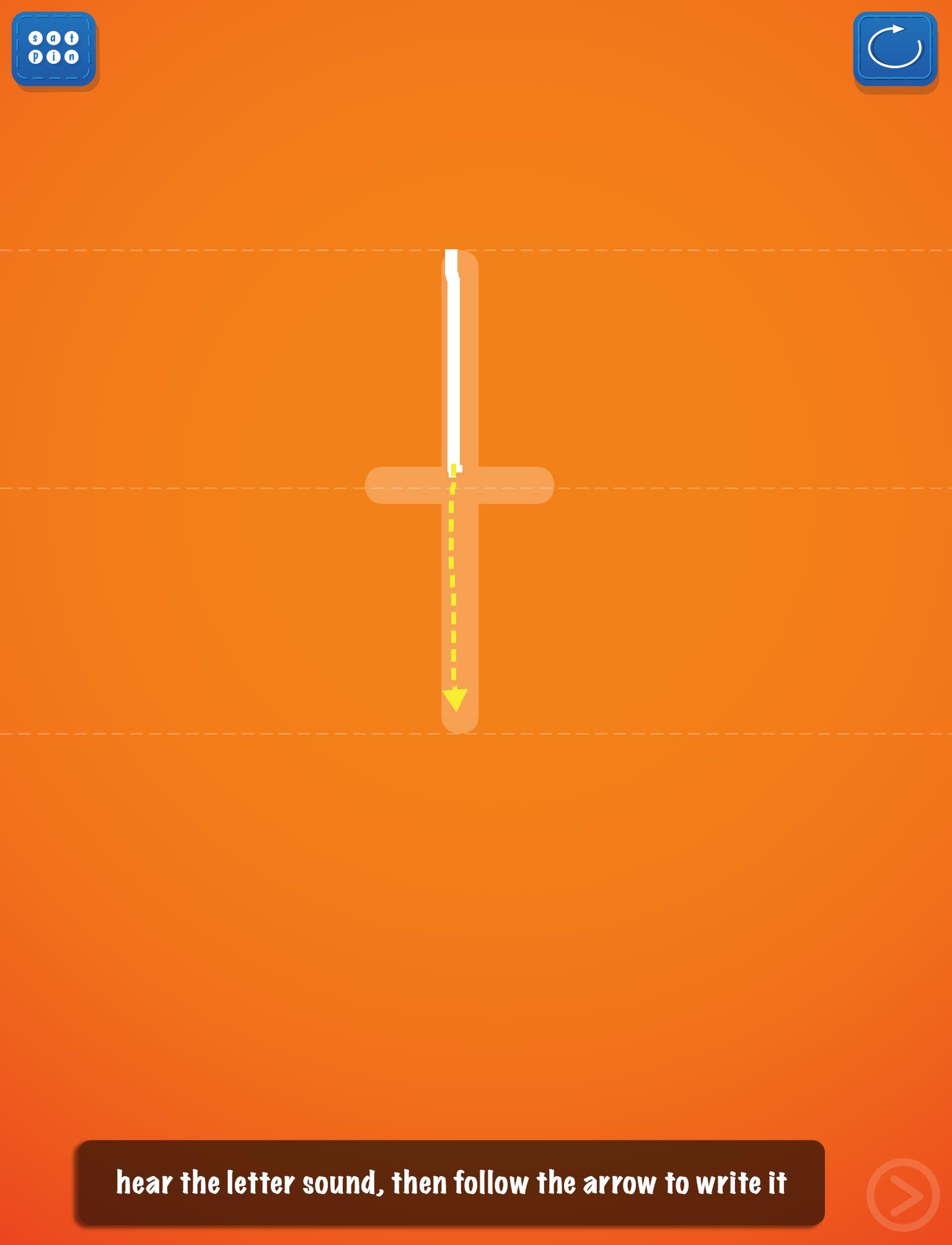 PocketPhonics Stories screen 1