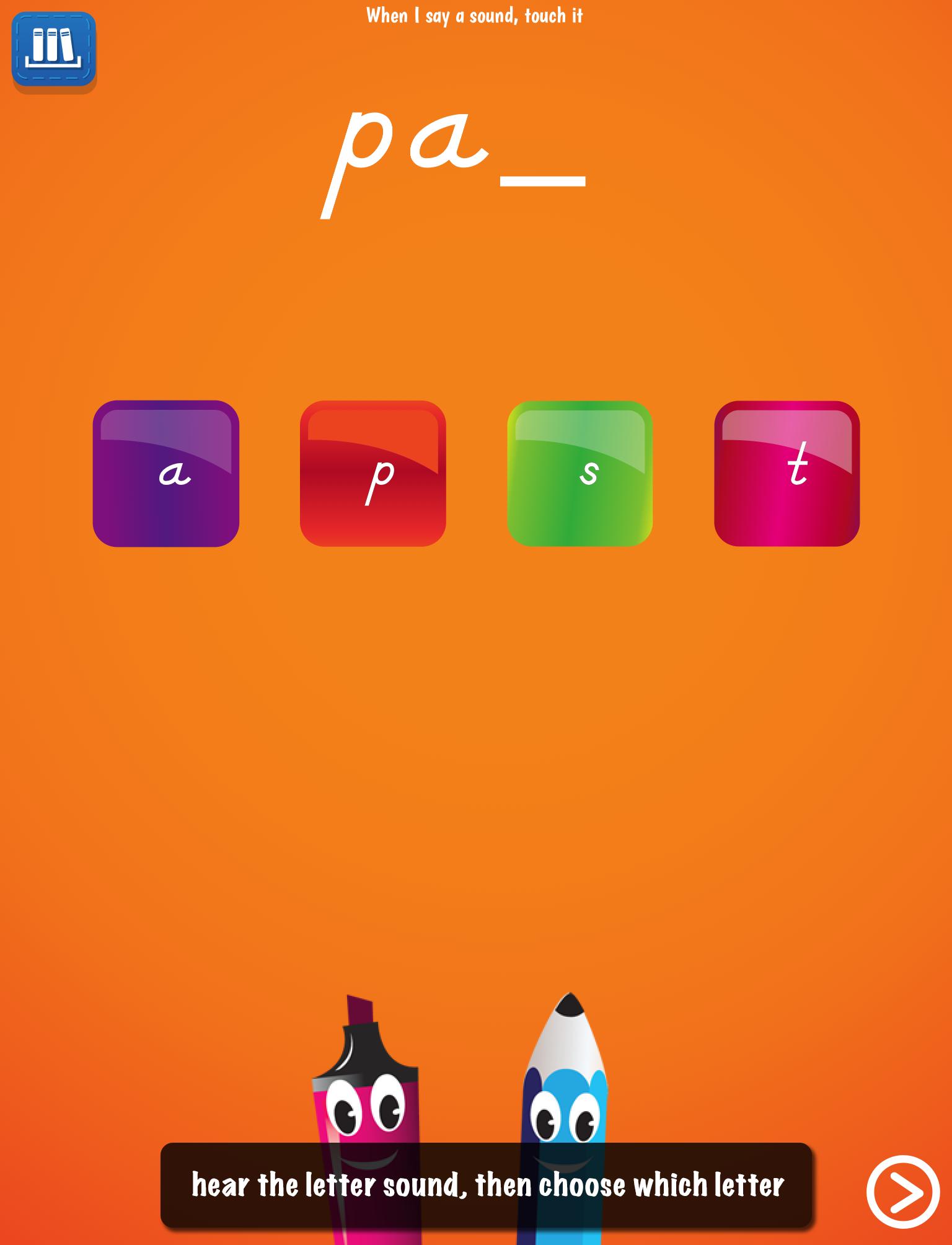 PocketPhonics Stories screen 2
