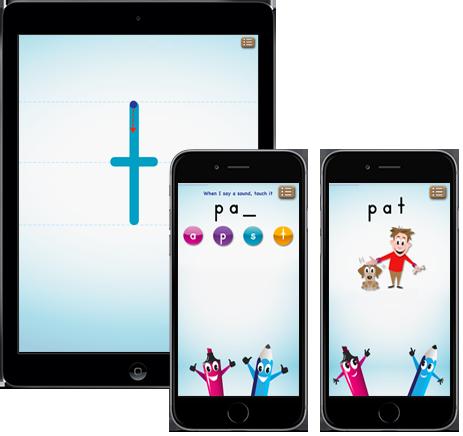 PocketPhonics screens